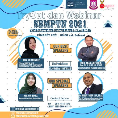 Kegiatan Tryout dan Webinar SBMPTN 2021